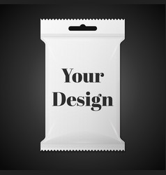 White Sachet bag package For Coffee Salt Sugar vector image