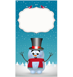 winter greeting card template with smiling vector image