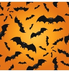 Bat seamless pattern background vector image