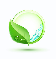 green plant concept vector image vector image