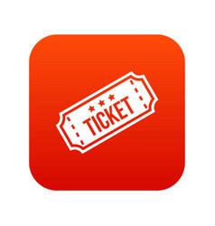 movie ticket icon digital red vector image vector image