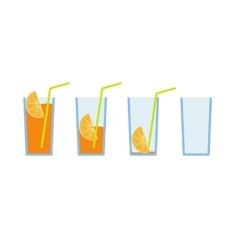 Set of orange juice coctail vector image vector image