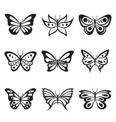 animal insect butterfly tattoo icon vector image vector image