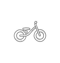 Child bike sketch icon vector image