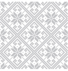 knitted gray seamless pattern vector image vector image