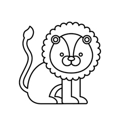 lion cute animal icon vector image