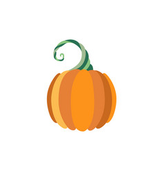 pumpkin flat icon isolated vector image