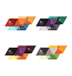 Set of colorful geometric infographics vector