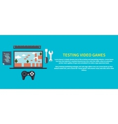 Testing video games vector image vector image