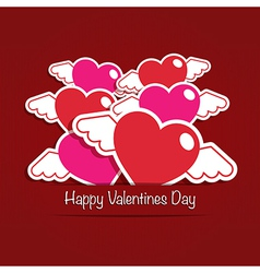 valentine decoration vector image vector image