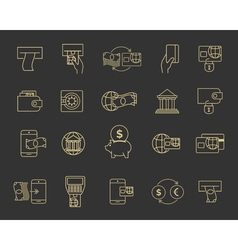Business budget banking line signs financial icons vector image