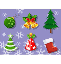 Christmas set of icons collection 3 vector image vector image