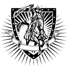 cowboy shield vector image