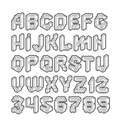 cube alphabet vector image