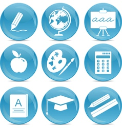 education web icons vector image vector image