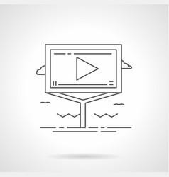 road advertising board flat line icon vector image vector image