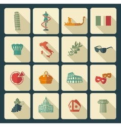 Traditional symbols of Italy vector image vector image