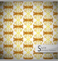 damask mesh gold bow ribbon vintage geometric vector image vector image