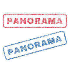 Panorama textile stamps vector