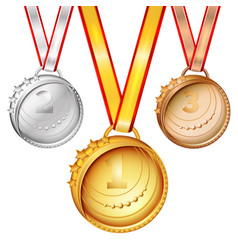 sports medals set vector image