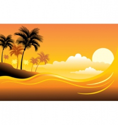 tropical sunset seascape vector image