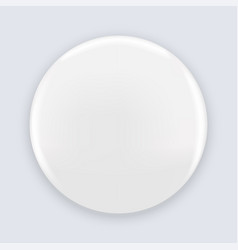white blank pin button badge isolated on vector image