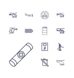 13 fuel icons vector