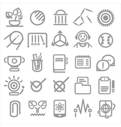 25 school and college icons vector image