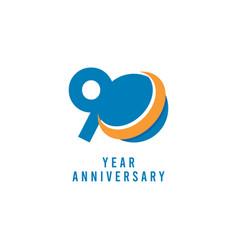 90 years anniversary global template design vector