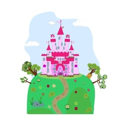 A magic castle vector