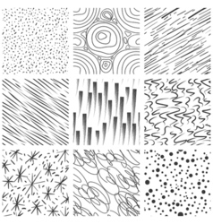 Abstract seamless texture patterns Simple lined vector image