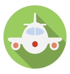 Airplane icon flat style vector