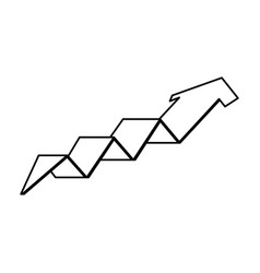 arrow growth isolated icon vector image