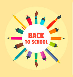back to school drawing background flat style vector image