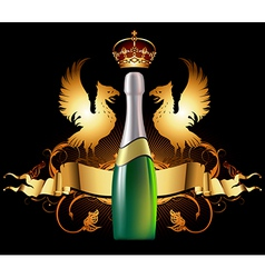 Background with champagne vector