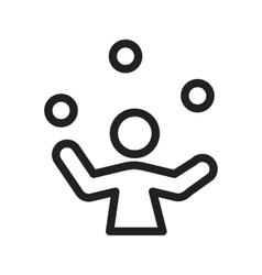 Ball juggling vector