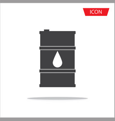 barrel oil icon isolated on background vector image
