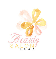 Beauty salon original logo design with delicate vector