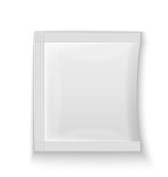 Blank white plastic sachet vector image