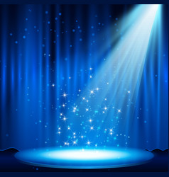 blue stage with spotlight vector image