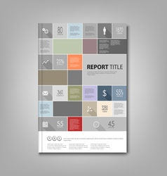 Brochures book or flyer with info graphic template vector