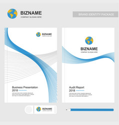Business presentation design and audit report vector