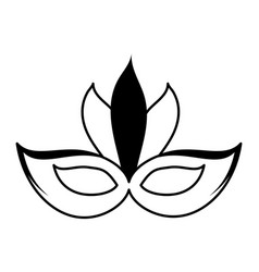 carnival mask icon image vector image