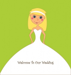 Cartoon bride vector