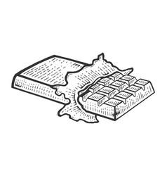 chocolate bar sketch engraving vector image