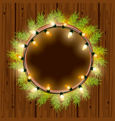 Christmas lights for decoration vector