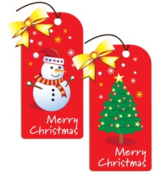 Christmas Swing Tags vector image