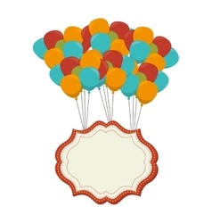 Circus balloons air icon vector