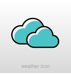 Clouds icon Meteorology Weather vector