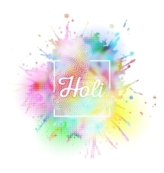 Colorful background for Holi celebration with vector